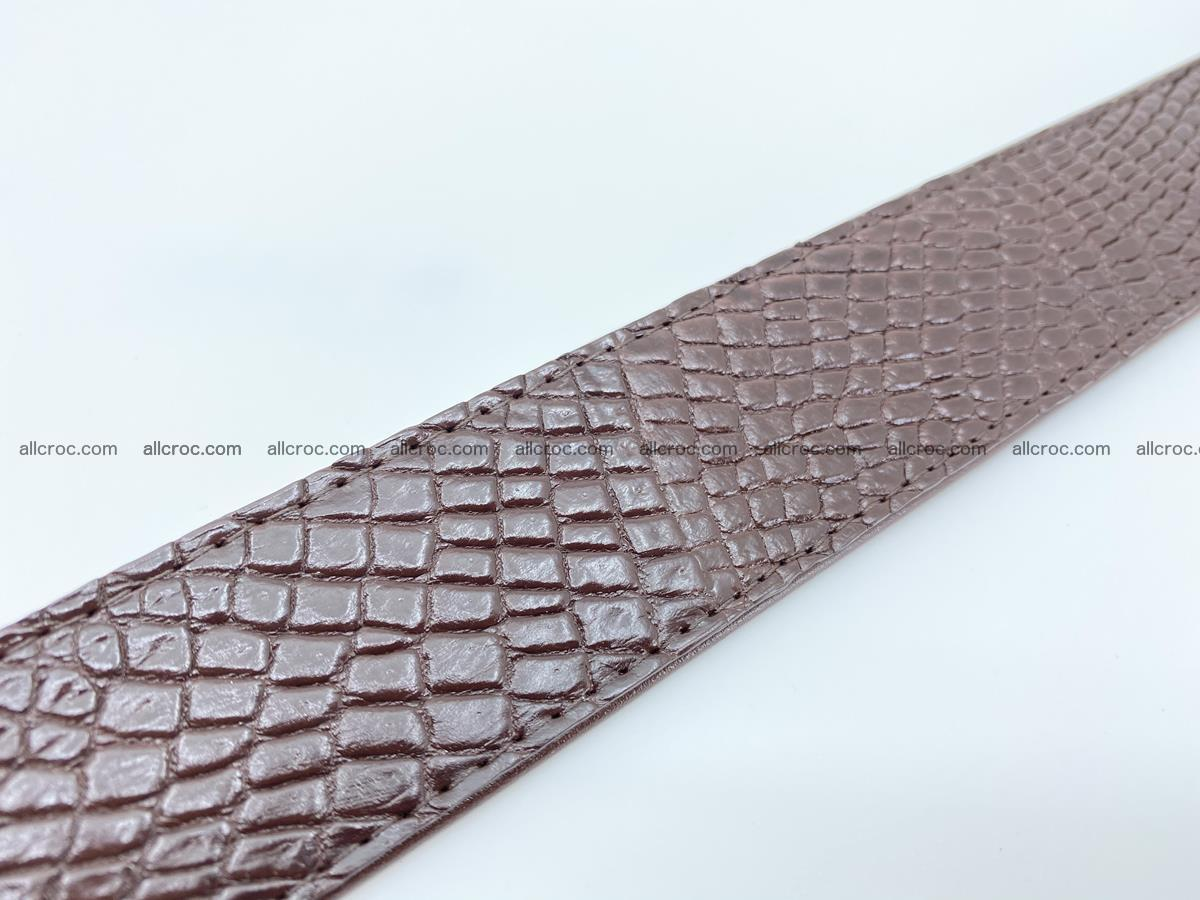 Crocodile leather belt 741 Foto 10