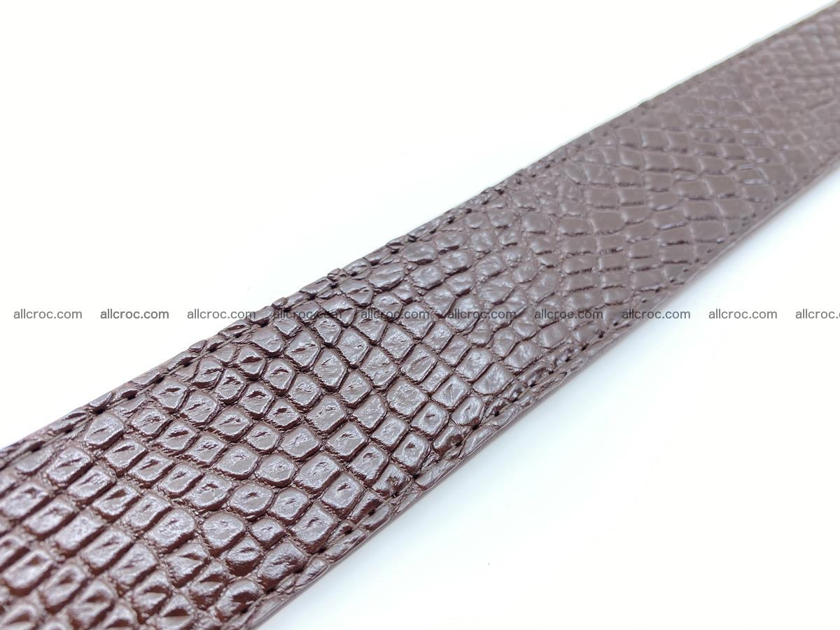 Crocodile leather belt 741 Foto 11