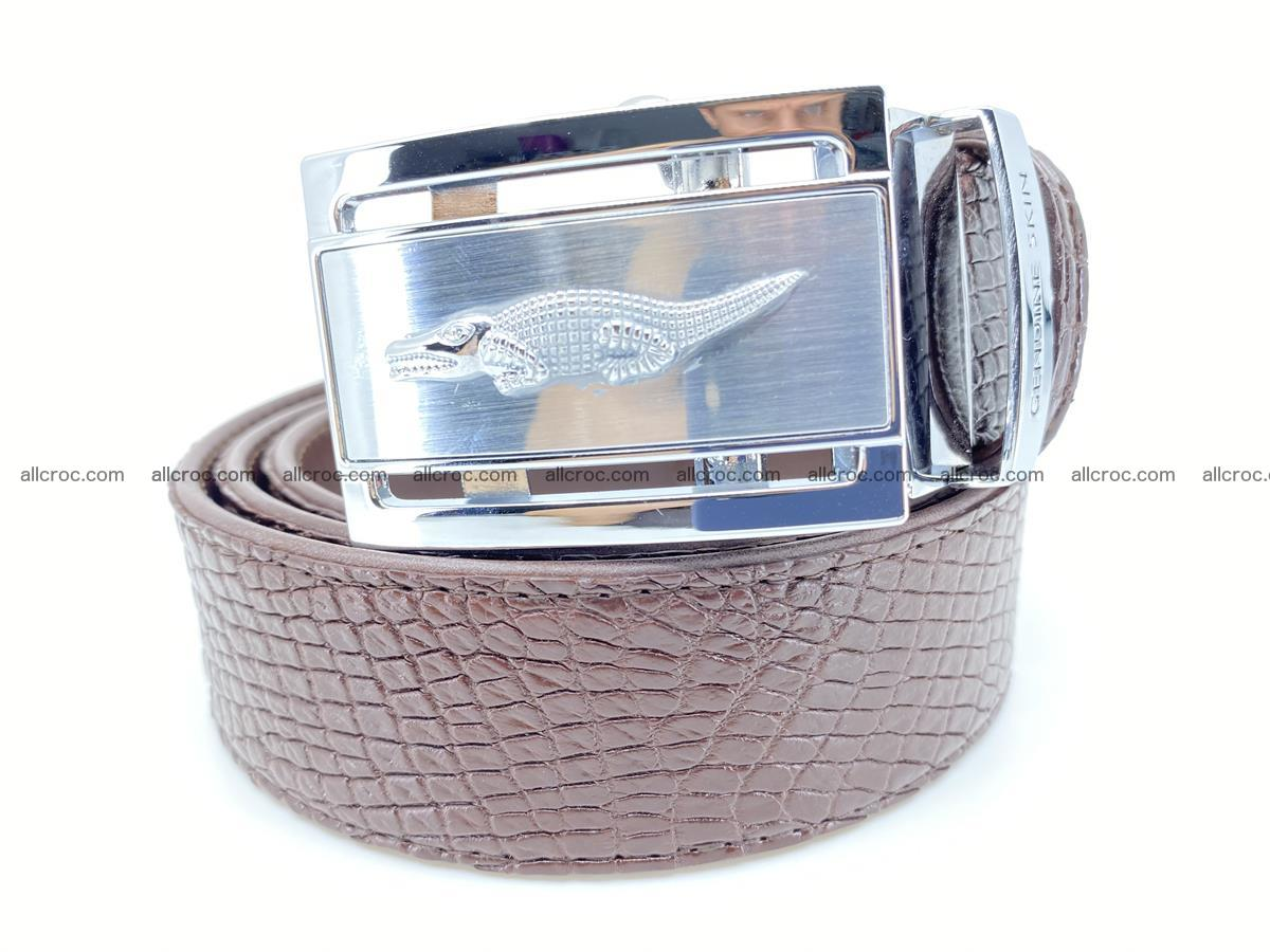 Crocodile leather belt 735 Foto 0