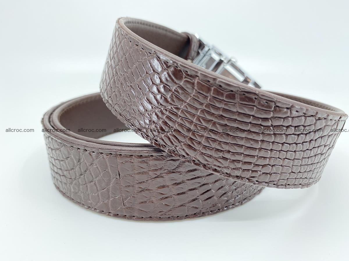Crocodile leather belt 735 Foto 4