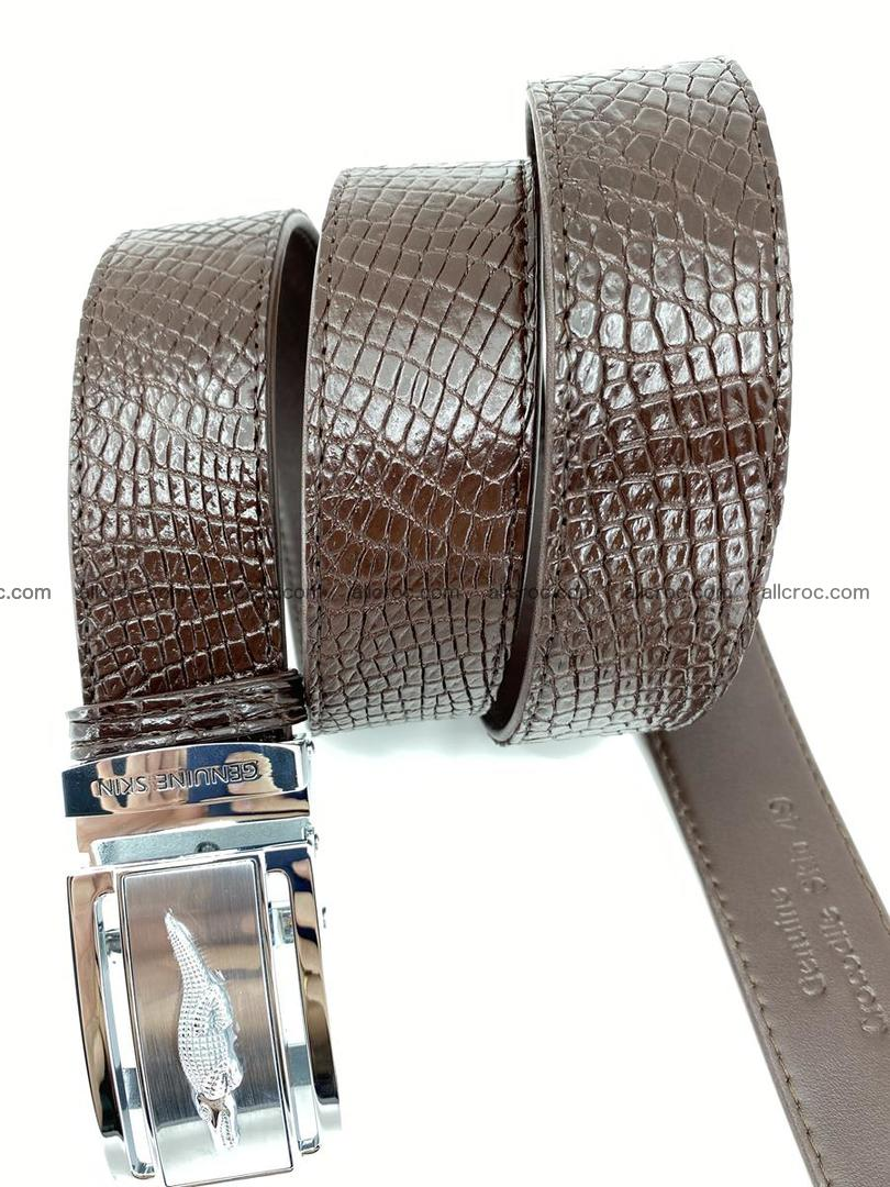 Crocodile leather belt 735 Foto 6