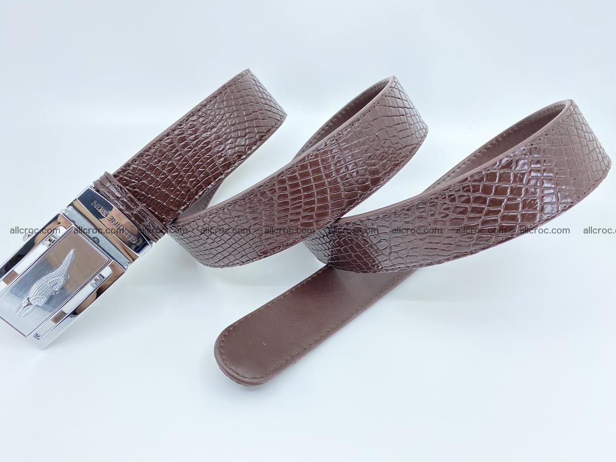 Crocodile leather belt 735 Foto 7