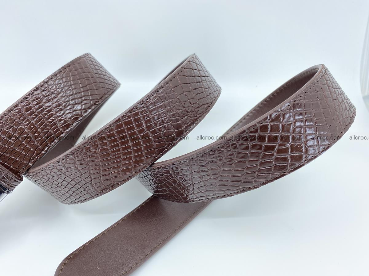 Crocodile leather belt 735 Foto 8