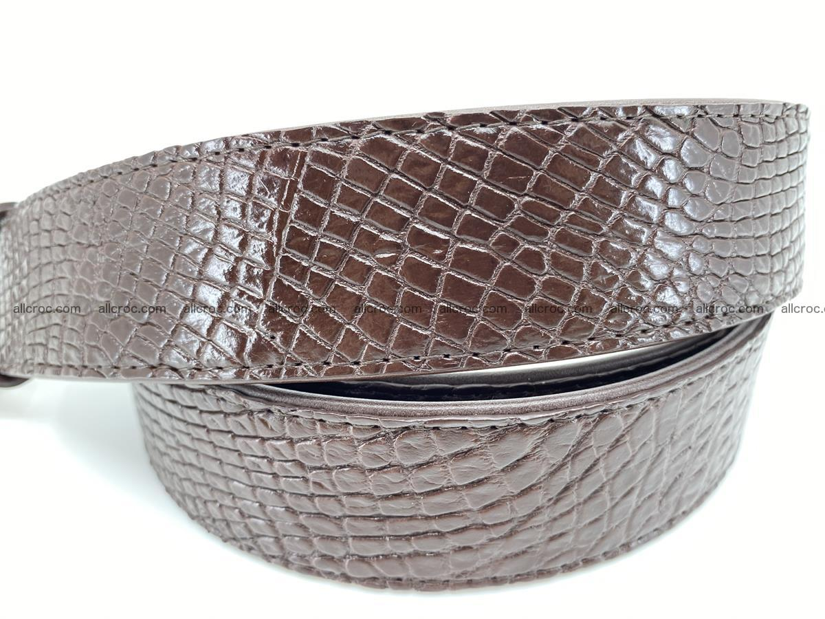 Crocodile leather belt 741 Foto 3