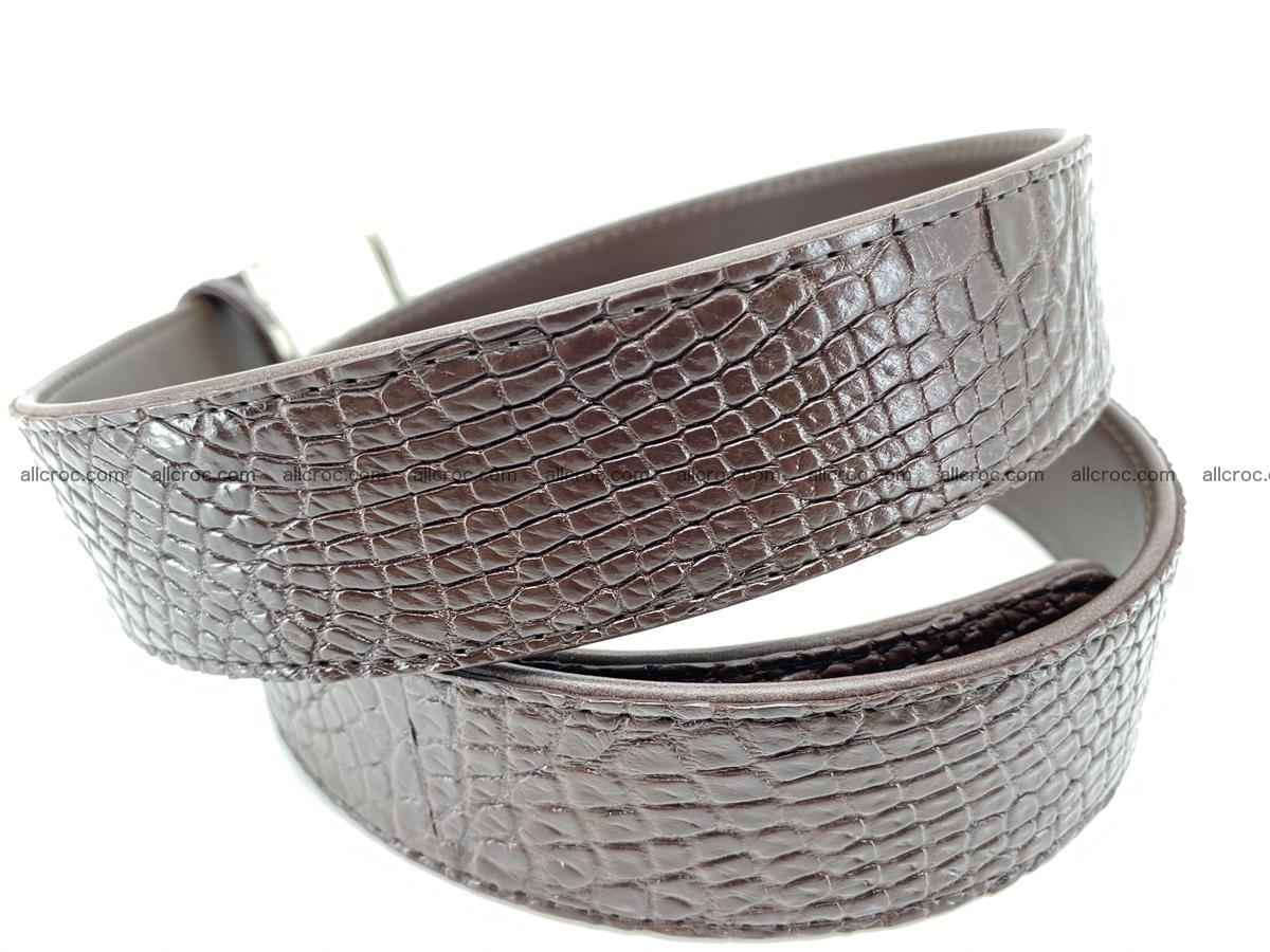 Crocodile leather belt 741 Foto 4