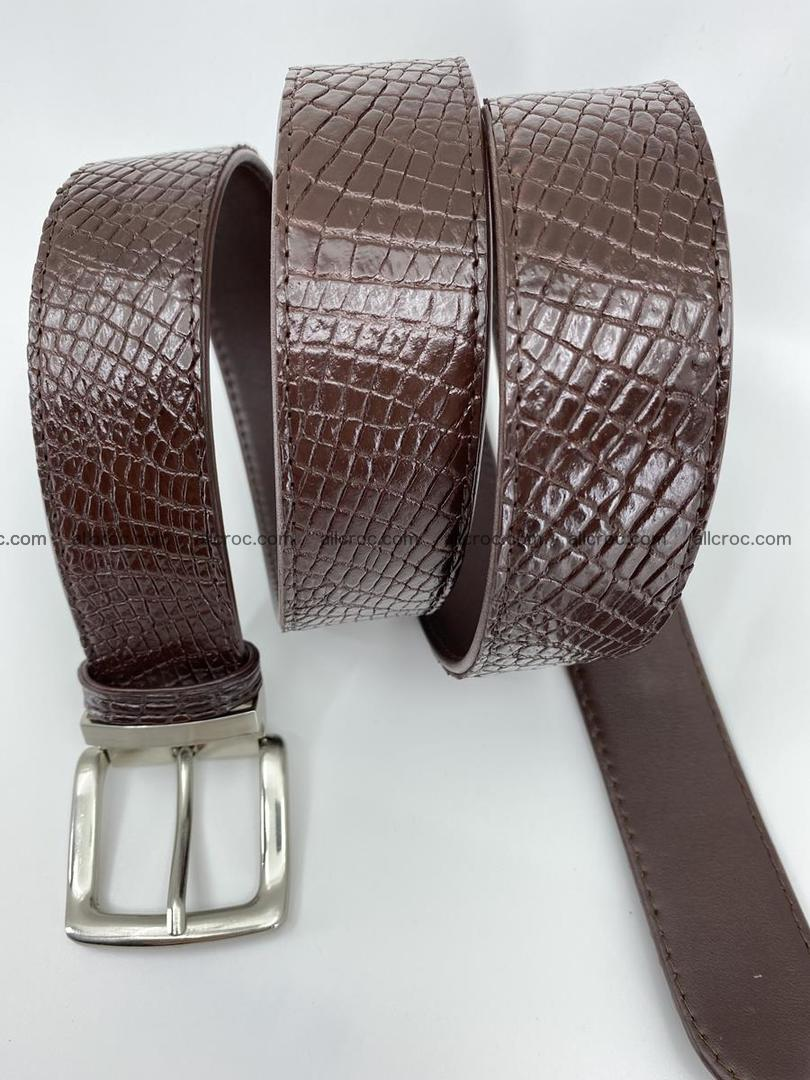 Crocodile leather belt 741 Foto 5