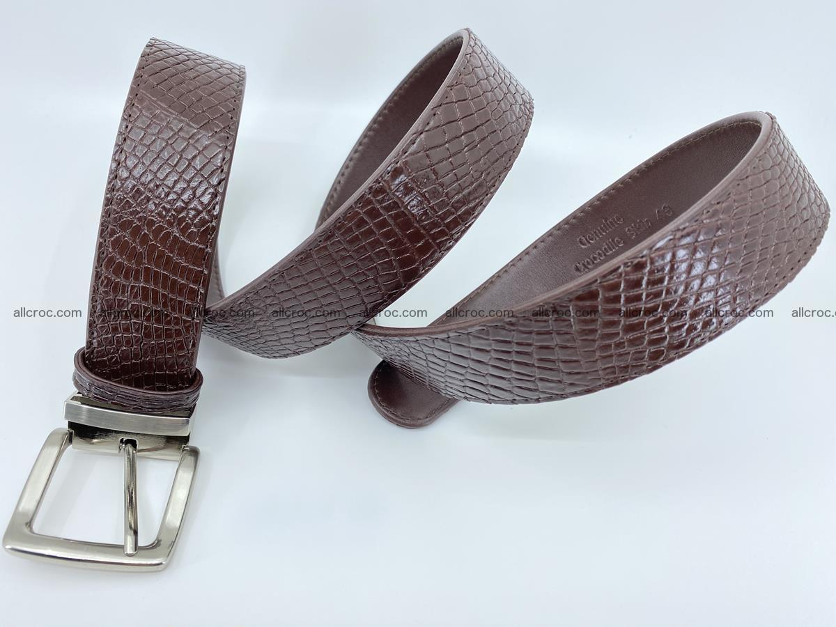 Crocodile leather belt 741 Foto 6
