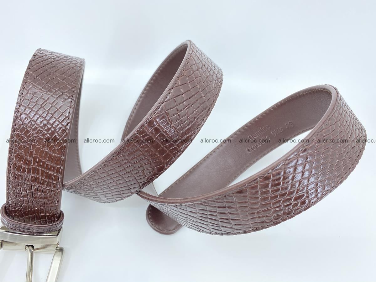 Crocodile leather belt 741 Foto 7