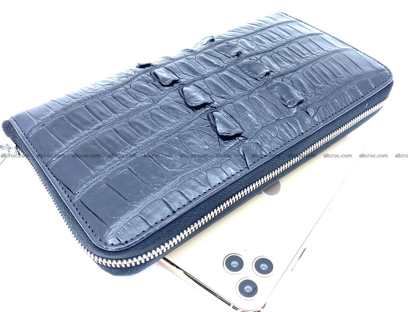 Crocodile skin zip wallet XL-size 598 Foto 0