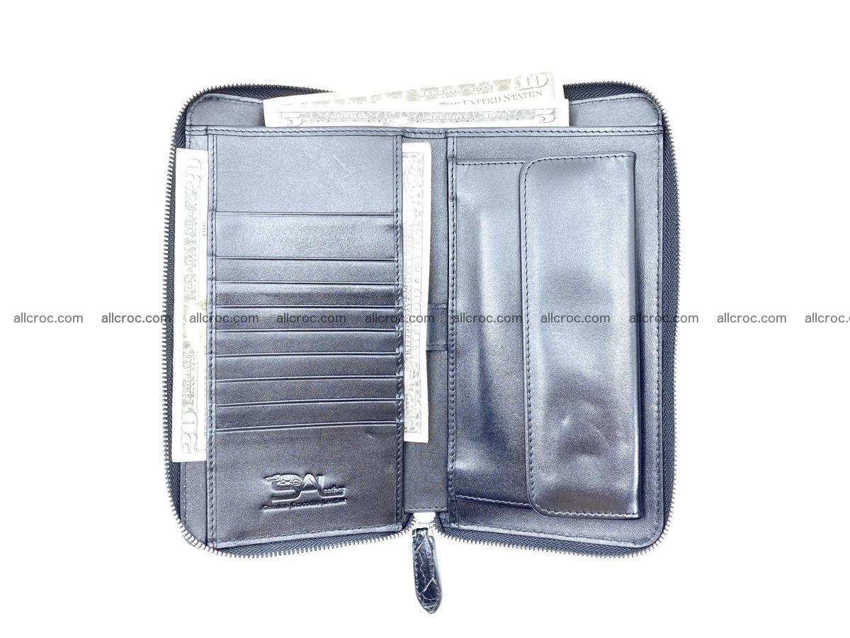 Crocodile skin zip wallet XL-size 598 Foto 14