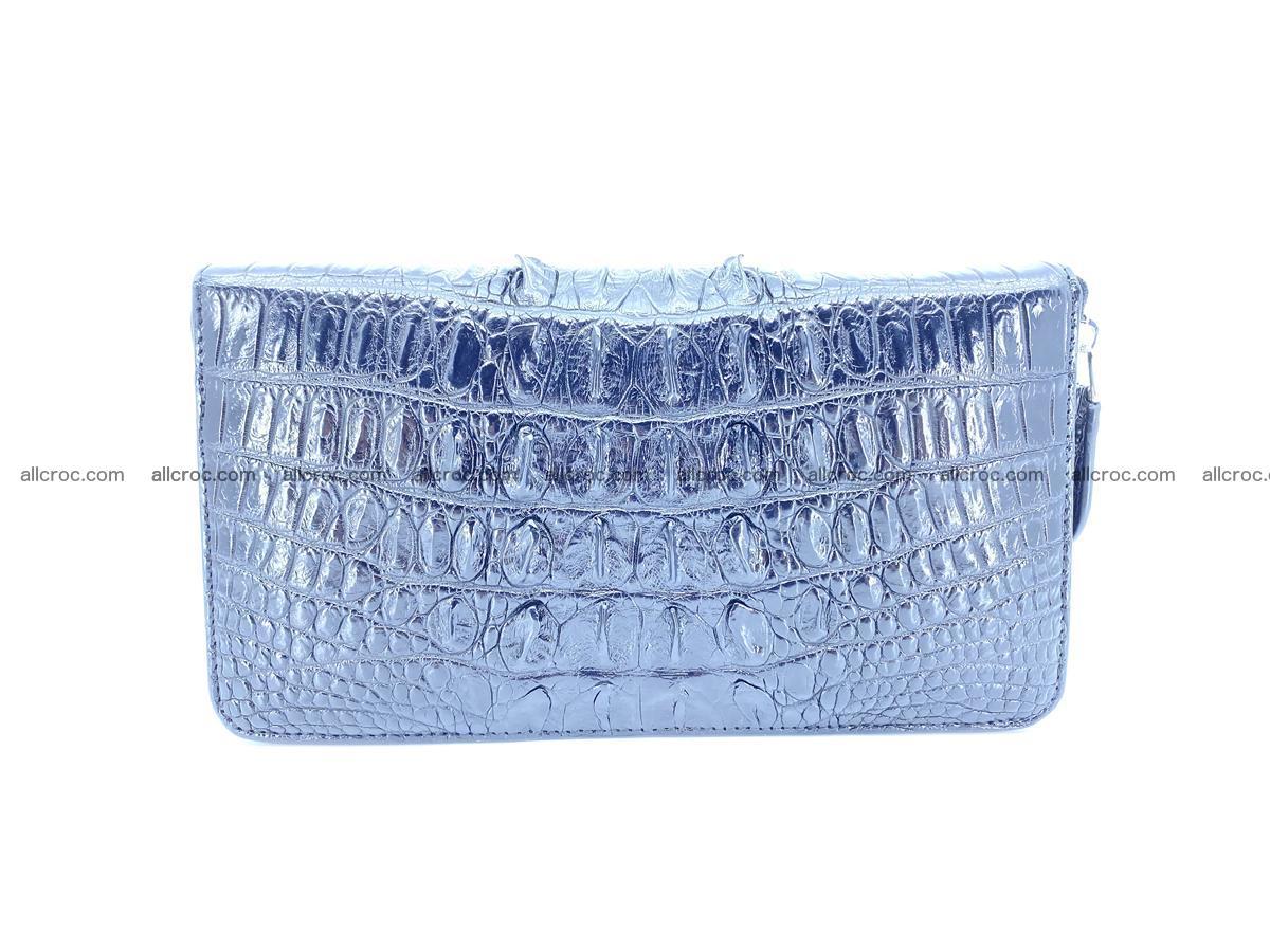 Crocodile skin zip wallet XL-size 598 Foto 3