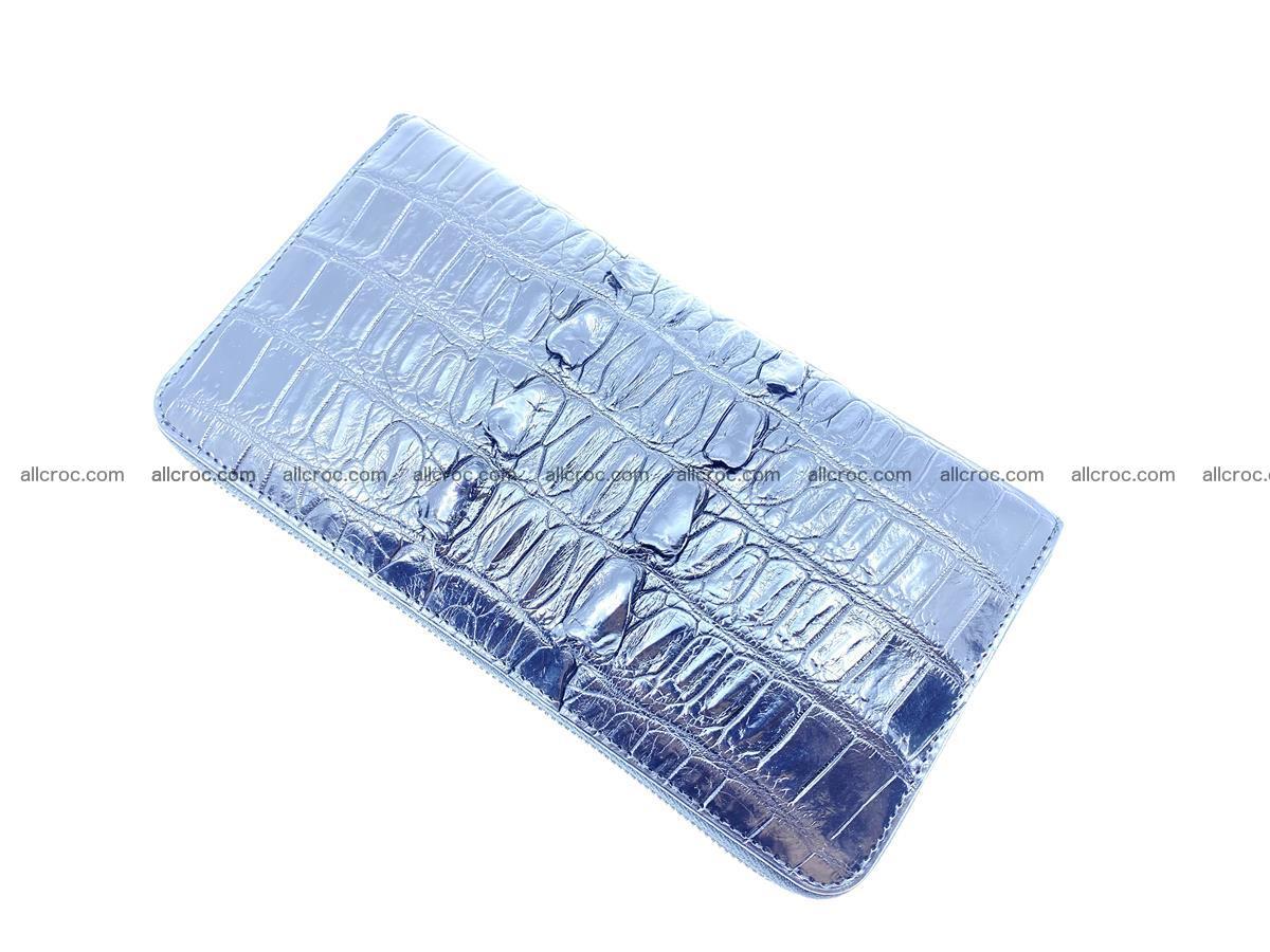 Crocodile skin zip wallet XL-size 598 Foto 7