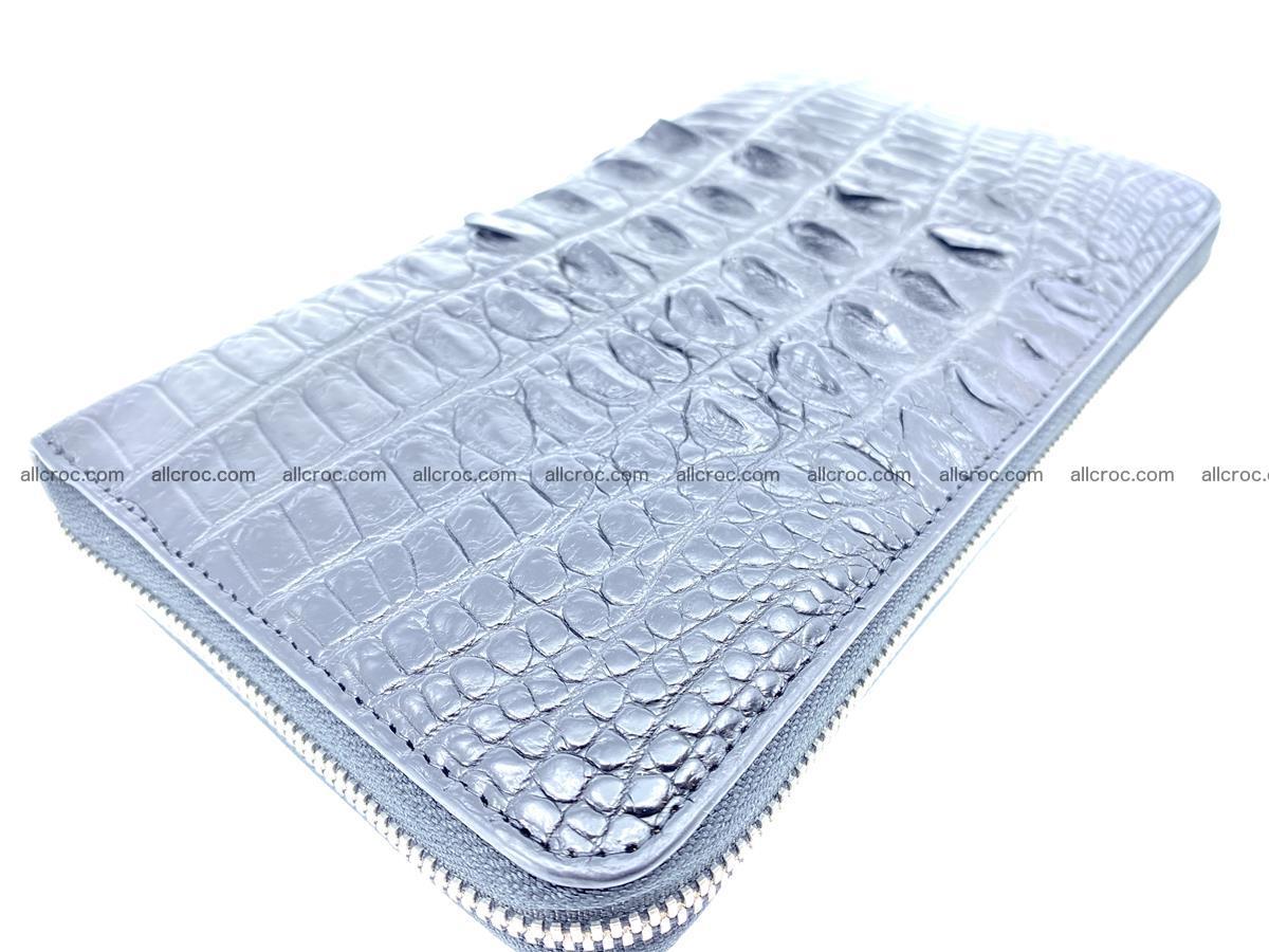 Crocodile skin zip wallet XL-size 598 Foto 1