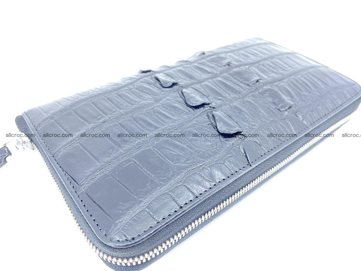 Crocodile skin zip wallet XL-size 598 Foto 9