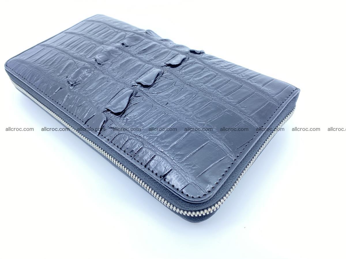 Crocodile skin zip wallet XL-size 598 Foto 10