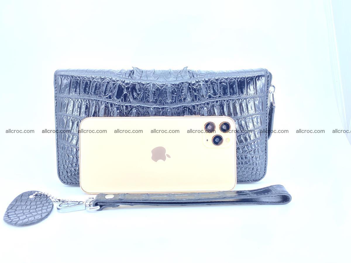 Crocodile skin zip wallet XL-size 598 Foto 12