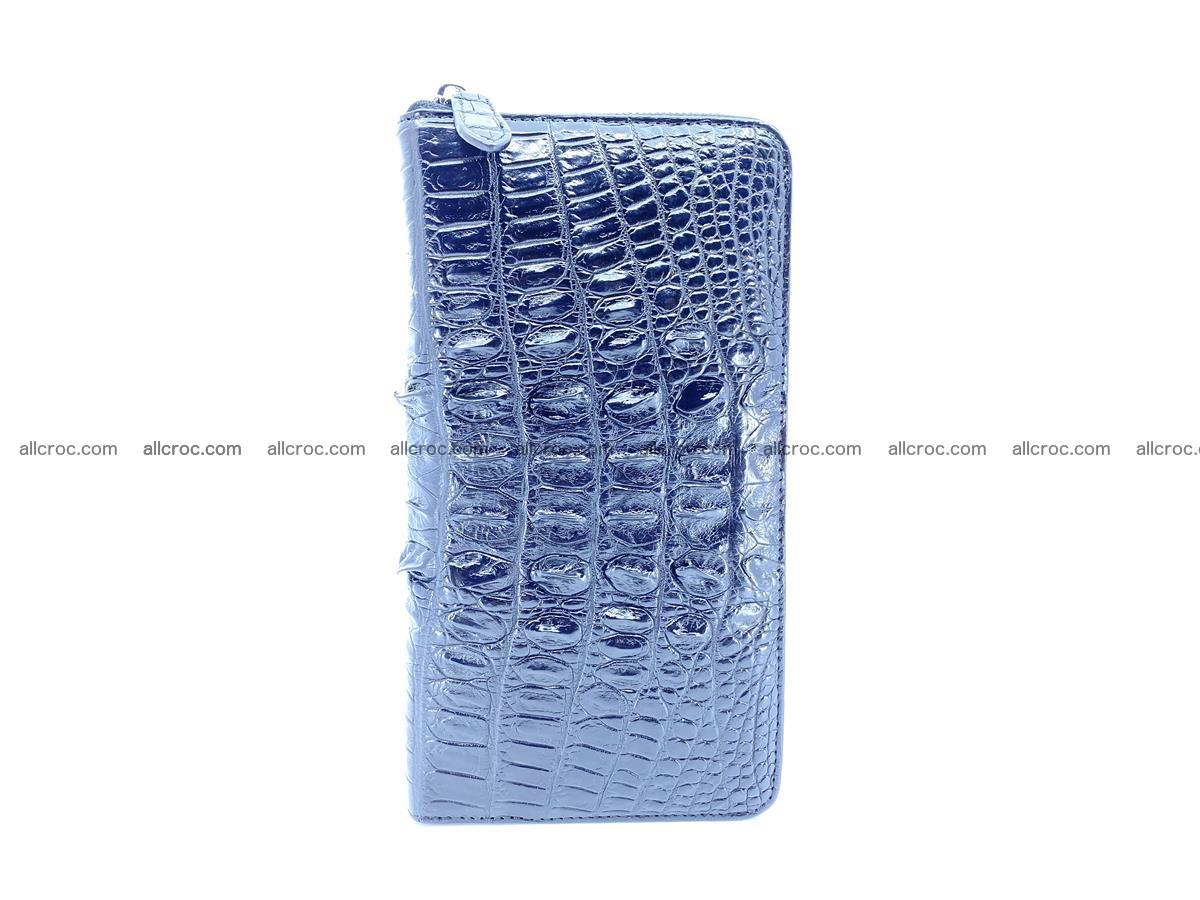 Crocodile skin zip wallet XL-size 598 Foto 5