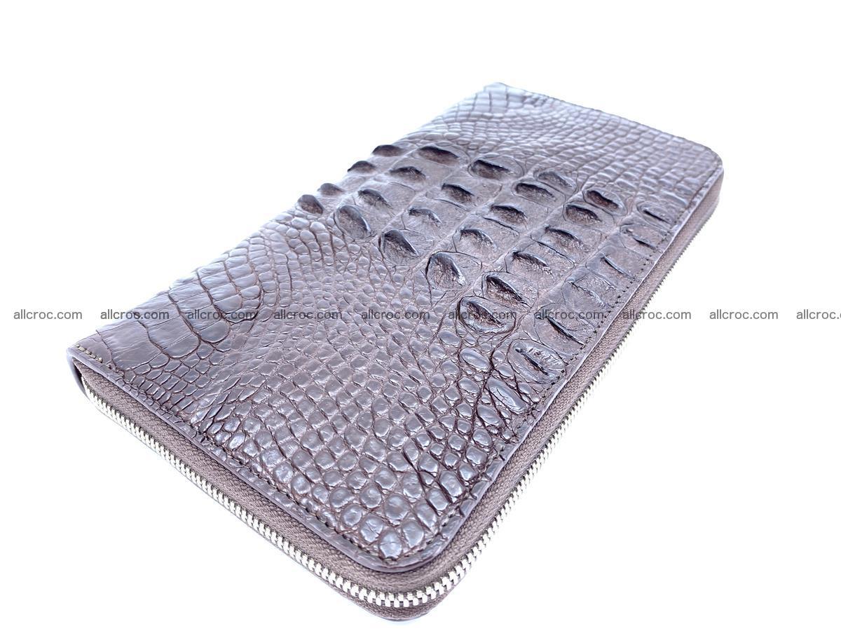 Crocodile skin zip wallet XL-size 597 Foto 2