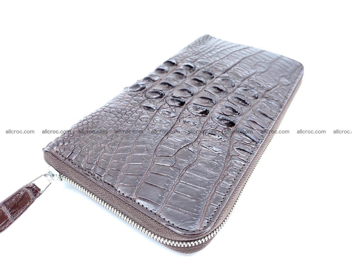 Crocodile skin zip wallet XL-size 597 Foto 1