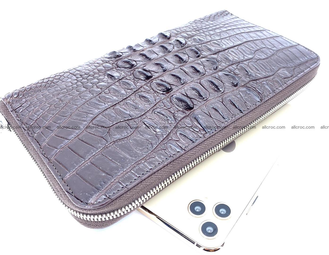 Crocodile skin zip wallet XL-size 597 Foto 0