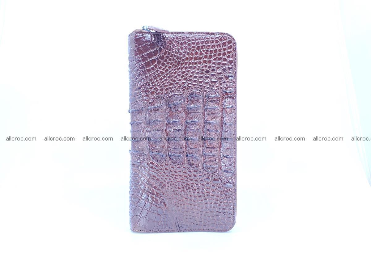 Crocodile skin zip wallet XL-size 597 Foto 5