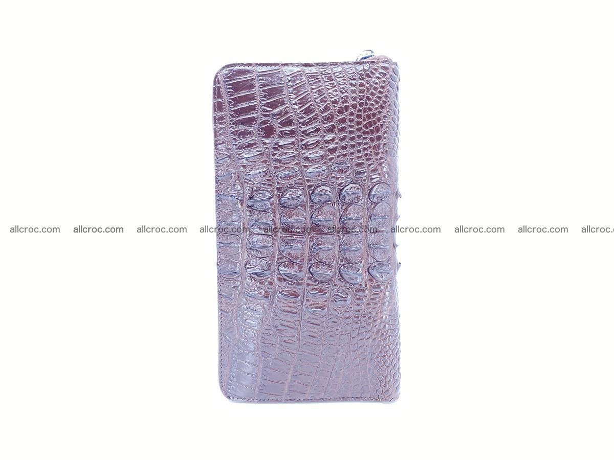 Crocodile skin zip wallet XL-size 597 Foto 6