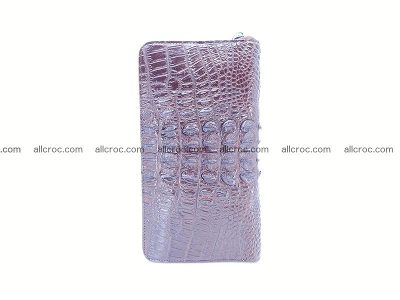 Crocodile skin zip wallet XL-size 597