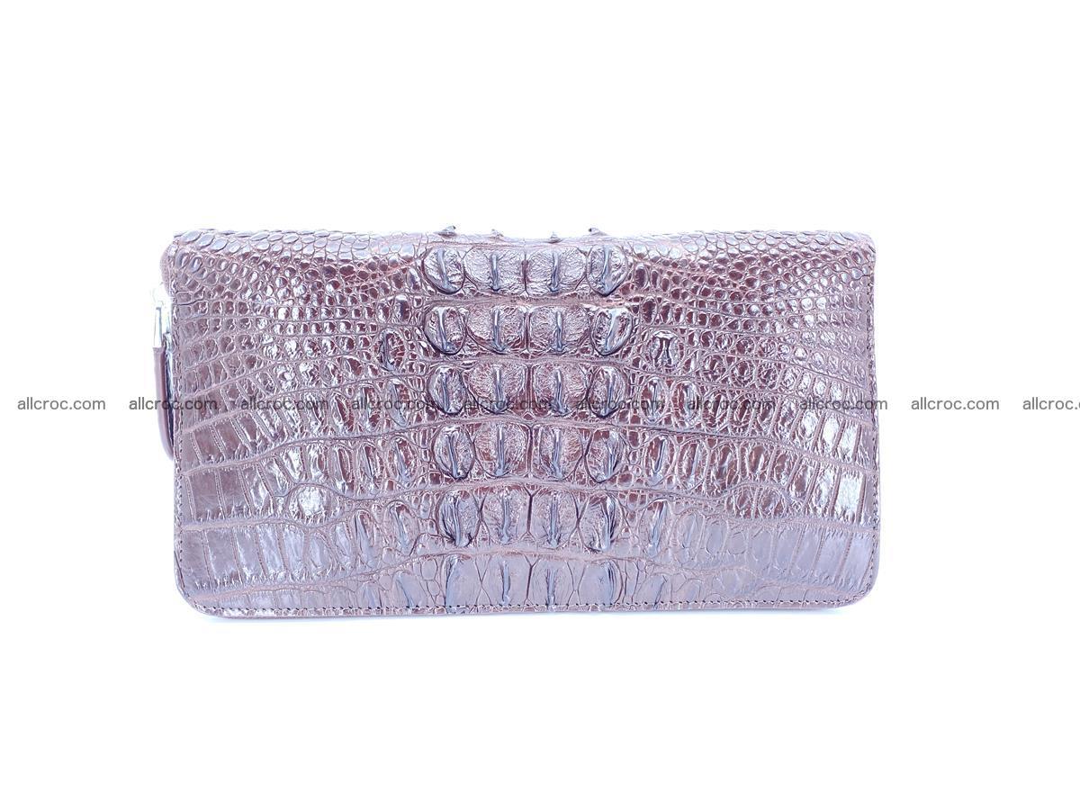 Crocodile skin zip wallet XL-size 597 Foto 3