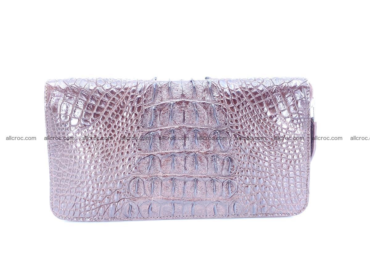 Crocodile skin zip wallet XL-size 597 Foto 4