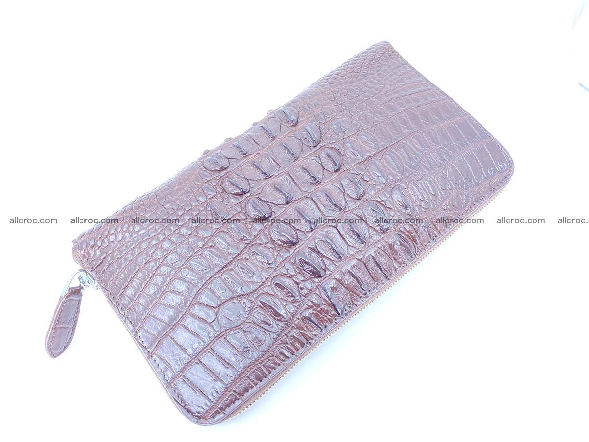 Crocodile skin zip wallet XL-size 597 Foto 7