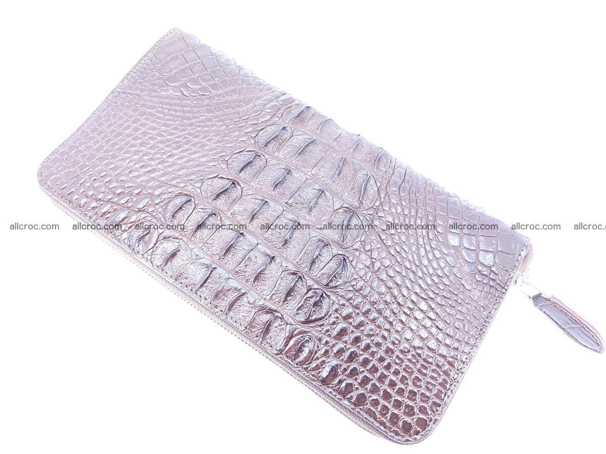 Crocodile skin zip wallet XL-size 597 Foto 8