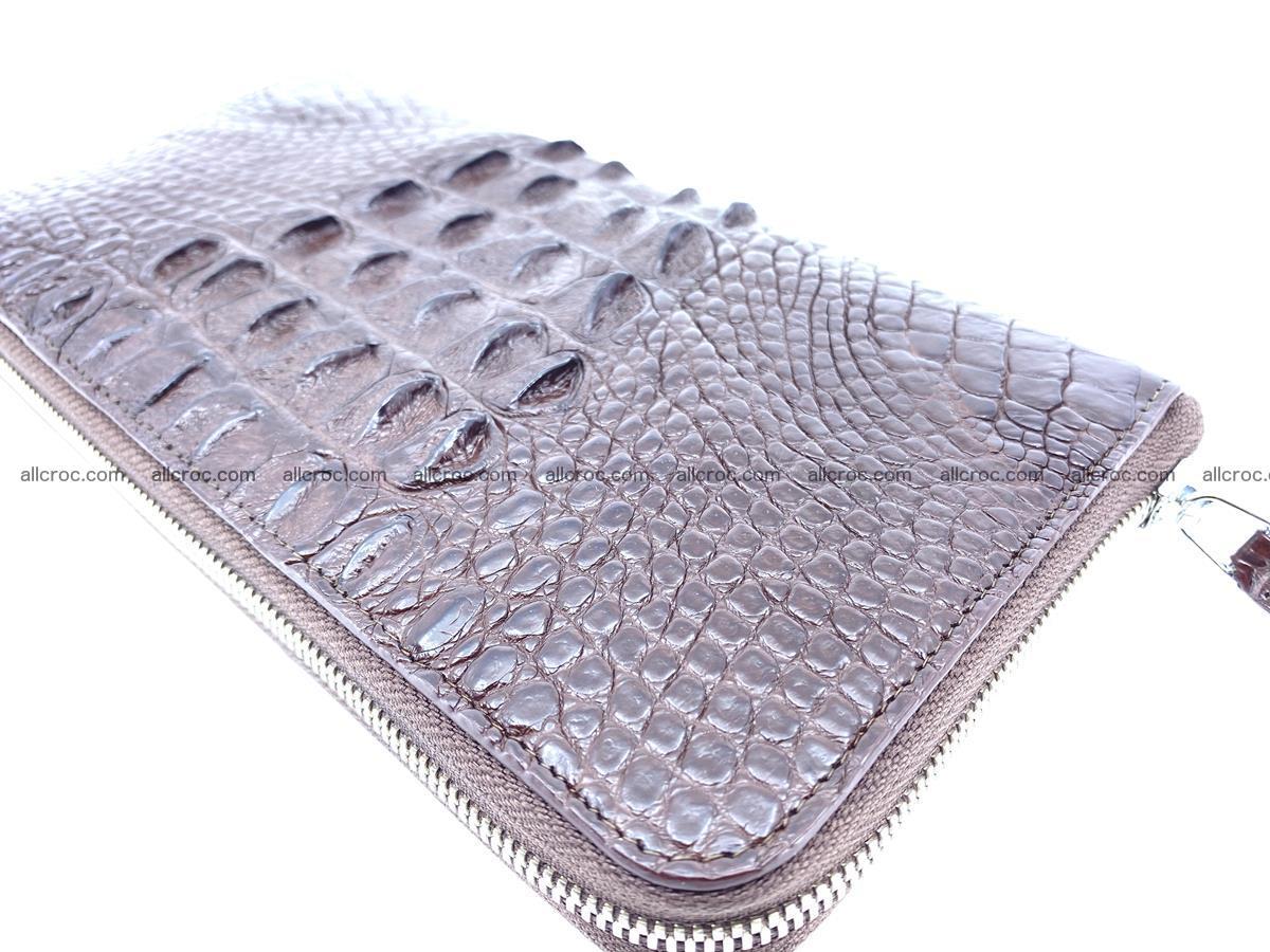Crocodile skin zip wallet XL-size 597 Foto 9