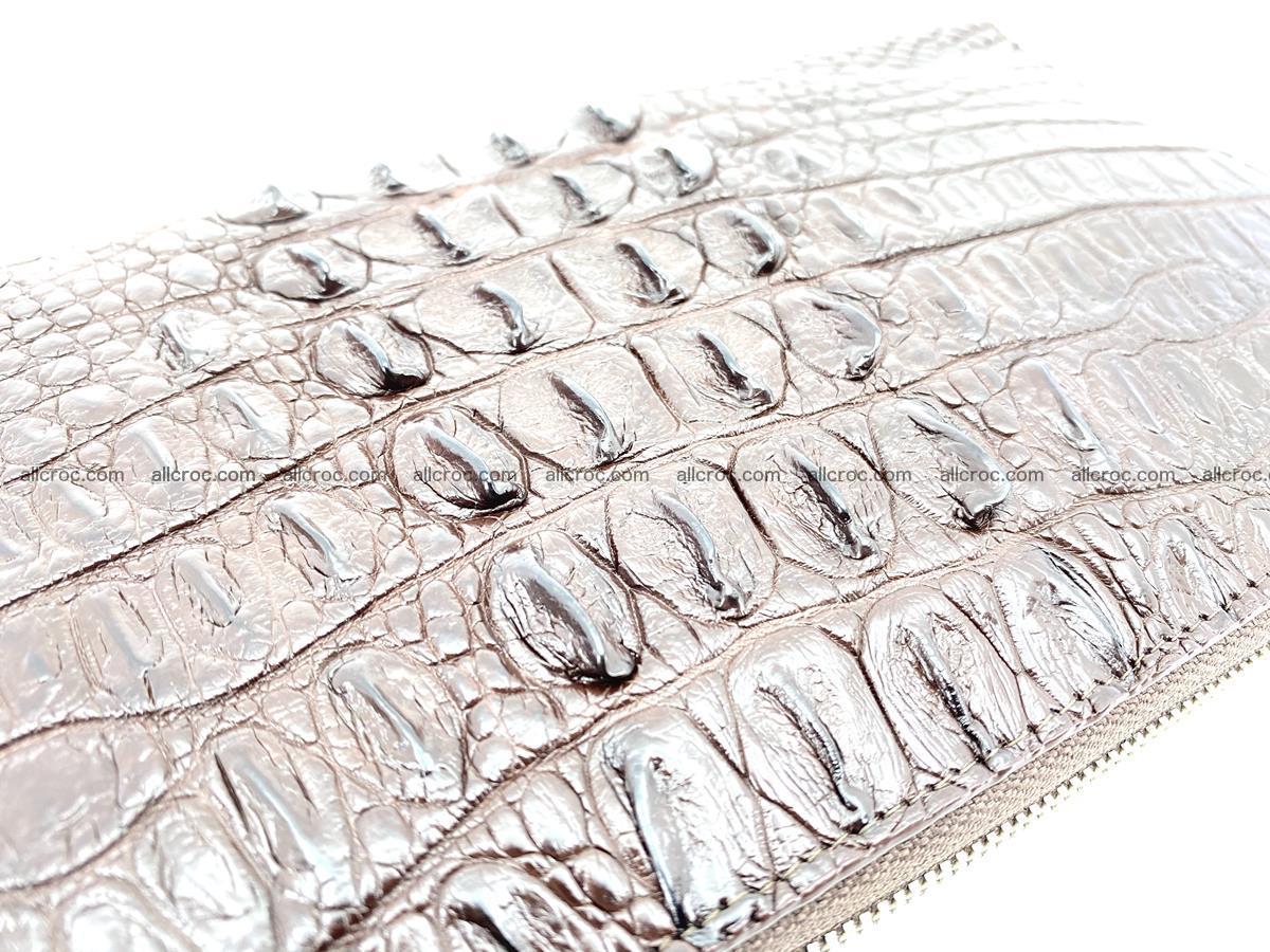 Crocodile skin zip wallet XL-size 597 Foto 11