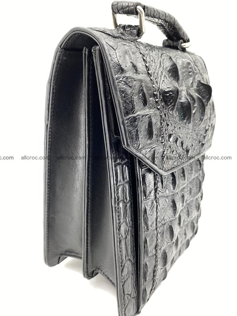 Crocodile leather handbag for men 691 Foto 3