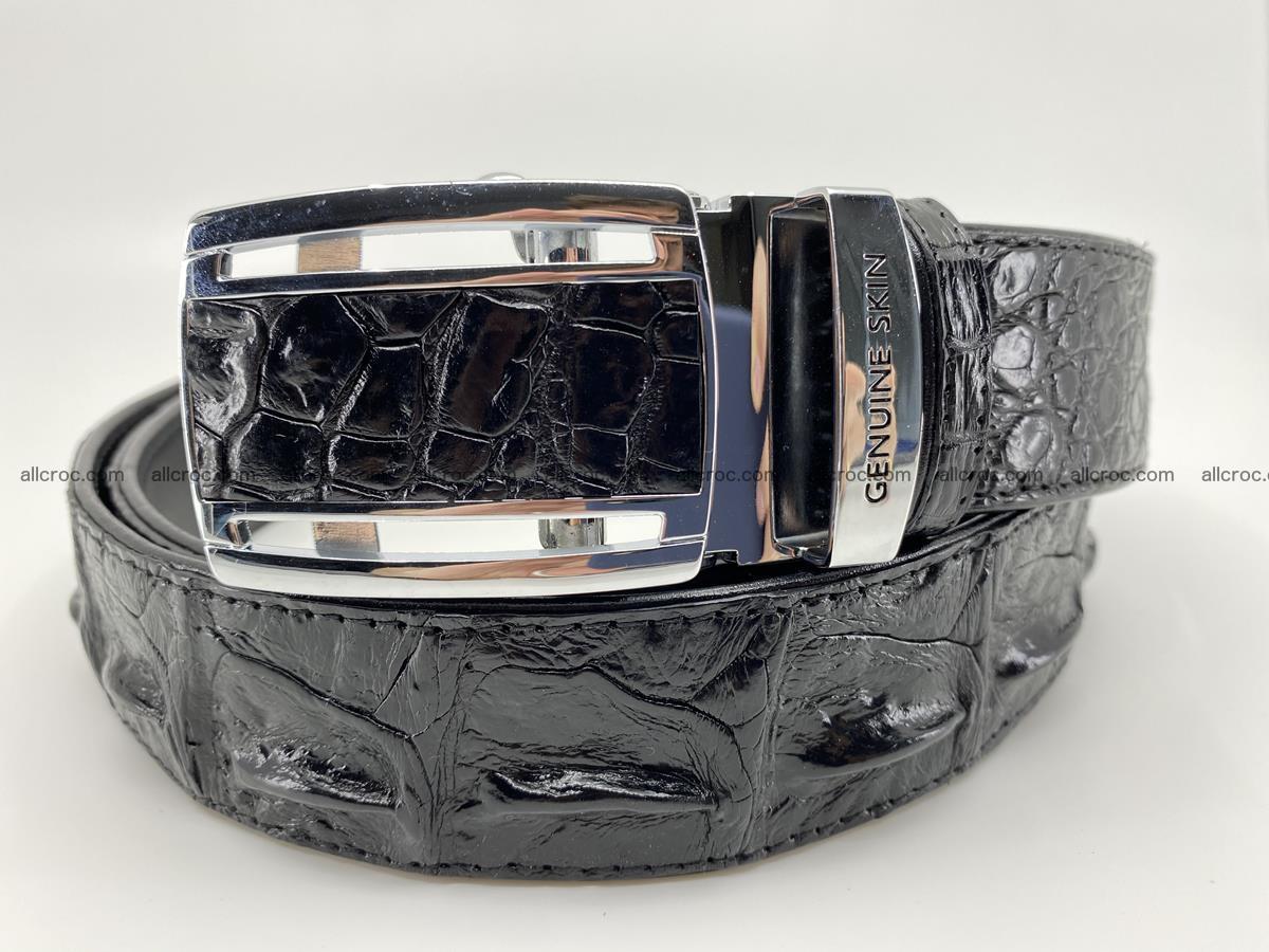 Crocodile leather hornback belt 709 Foto 0