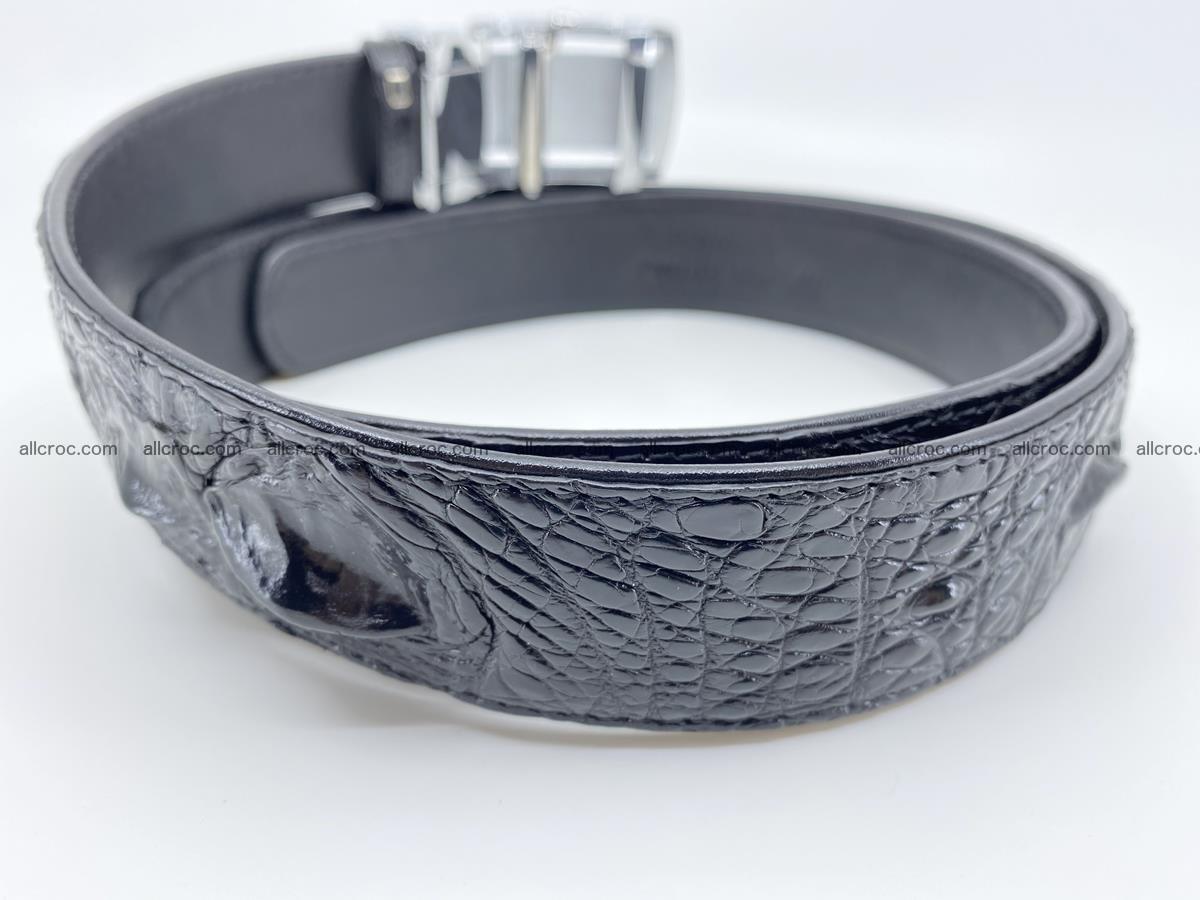 Crocodile leather hornback belt 709 Foto 6