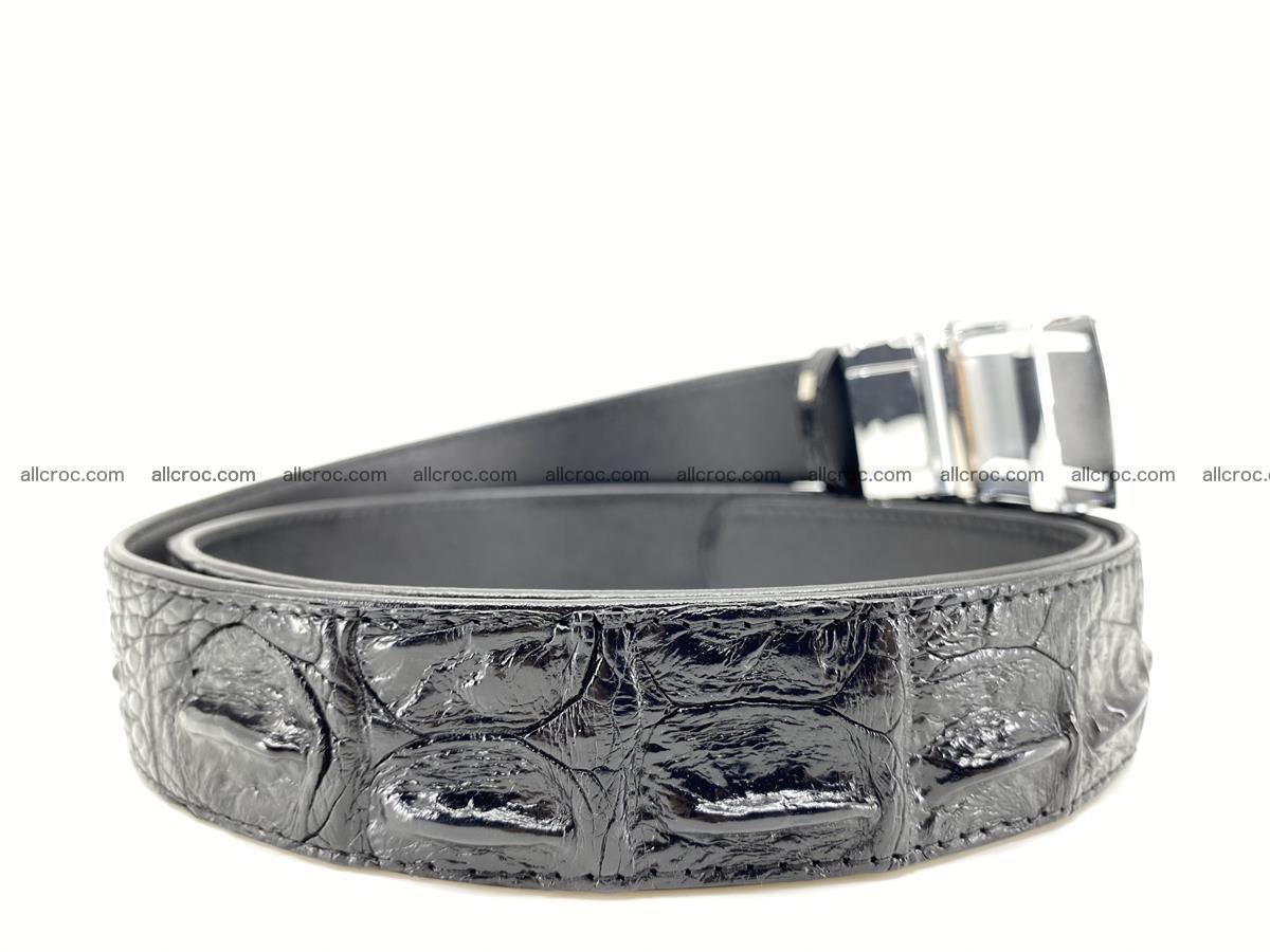 Crocodile leather hornback belt 709 Foto 7