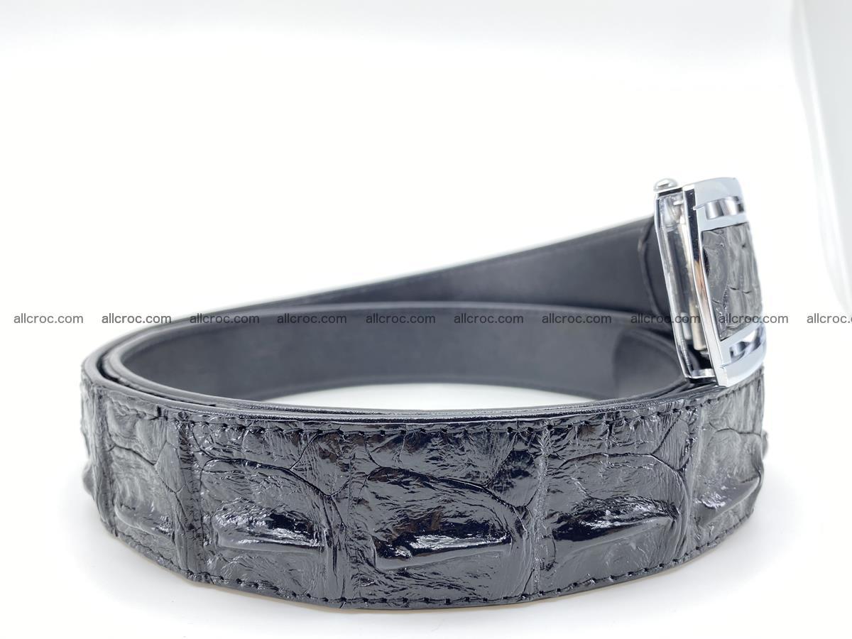 Crocodile leather hornback belt 709 Foto 8