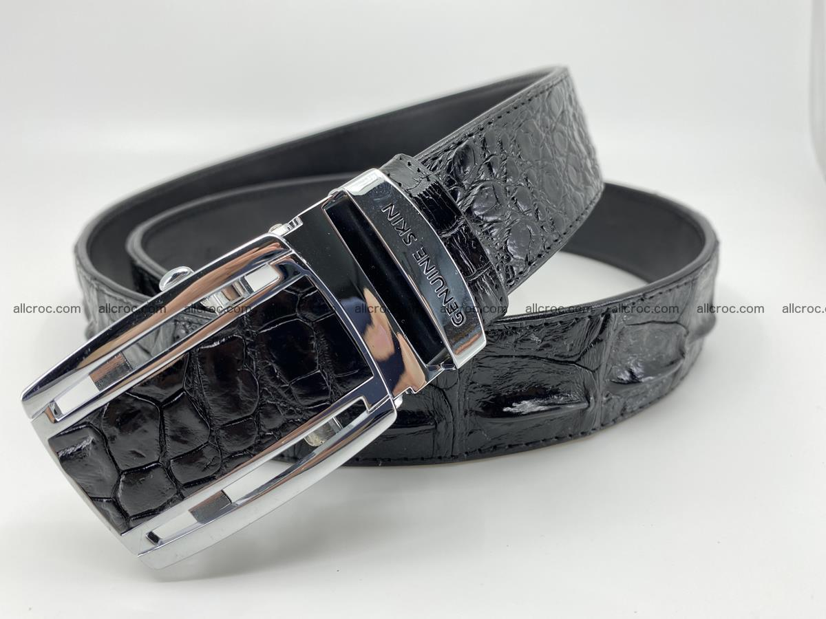 Crocodile leather hornback belt 709 Foto 2