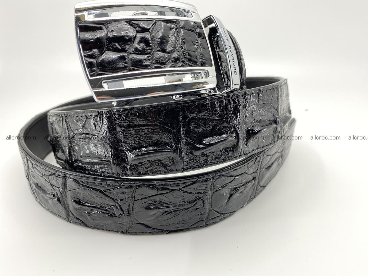Crocodile leather hornback belt 709 Foto 3