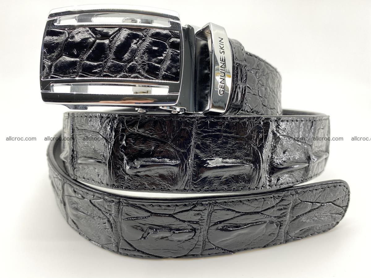 Crocodile leather hornback belt 709 Foto 1