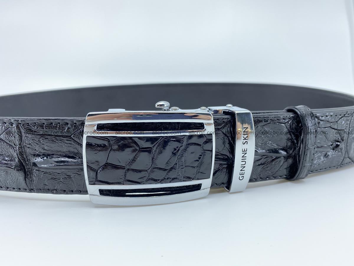 Crocodile leather hornback belt 709 Foto 4
