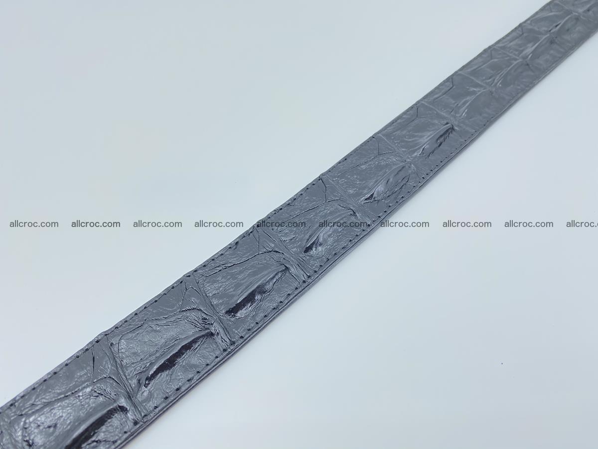 Crocodile leather hornback belt 709 Foto 11