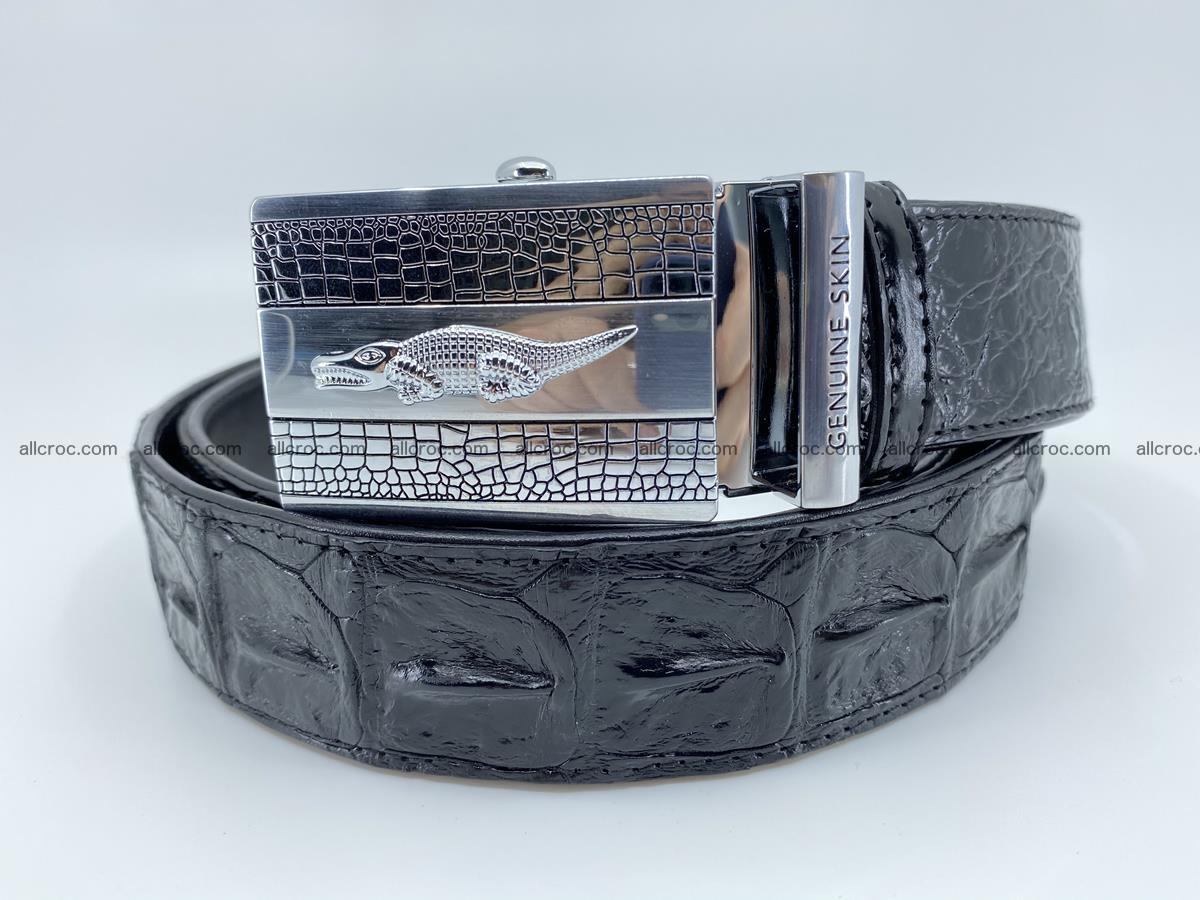 Crocodile leather hornback belt 712 Foto 2