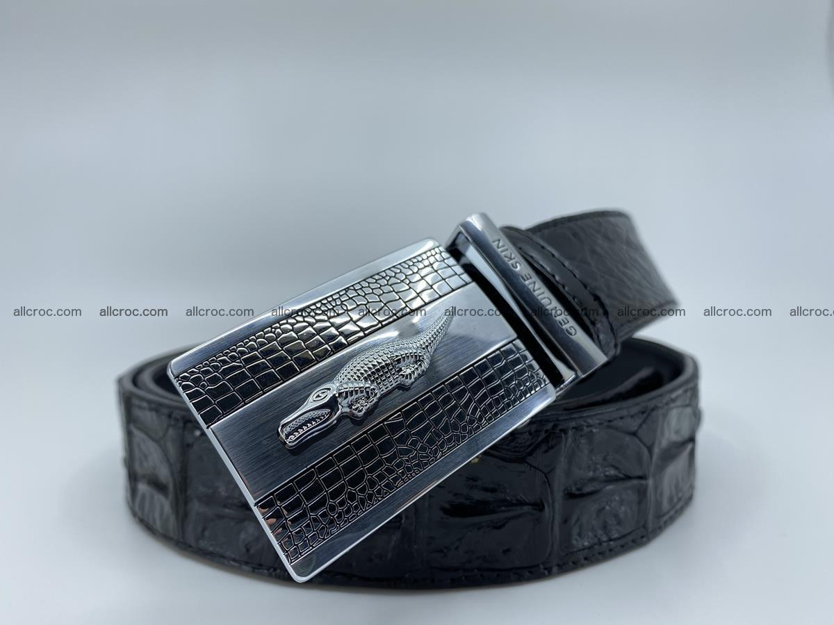 Crocodile leather hornback belt 712 Foto 1