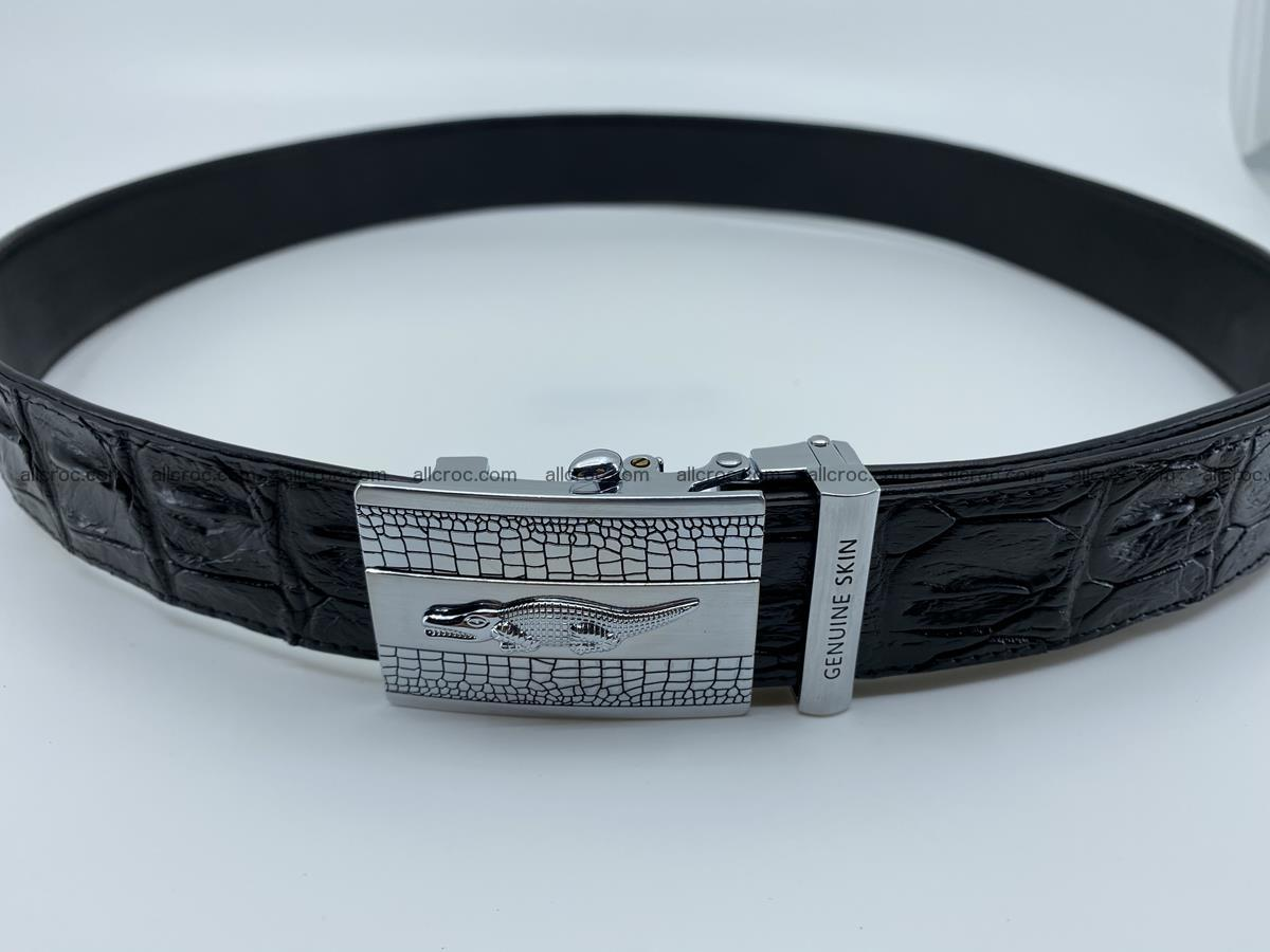 Crocodile leather hornback belt 712 Foto 11