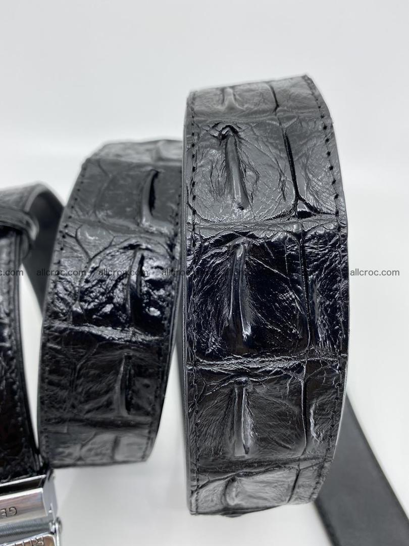 Crocodile leather hornback belt 712 Foto 7
