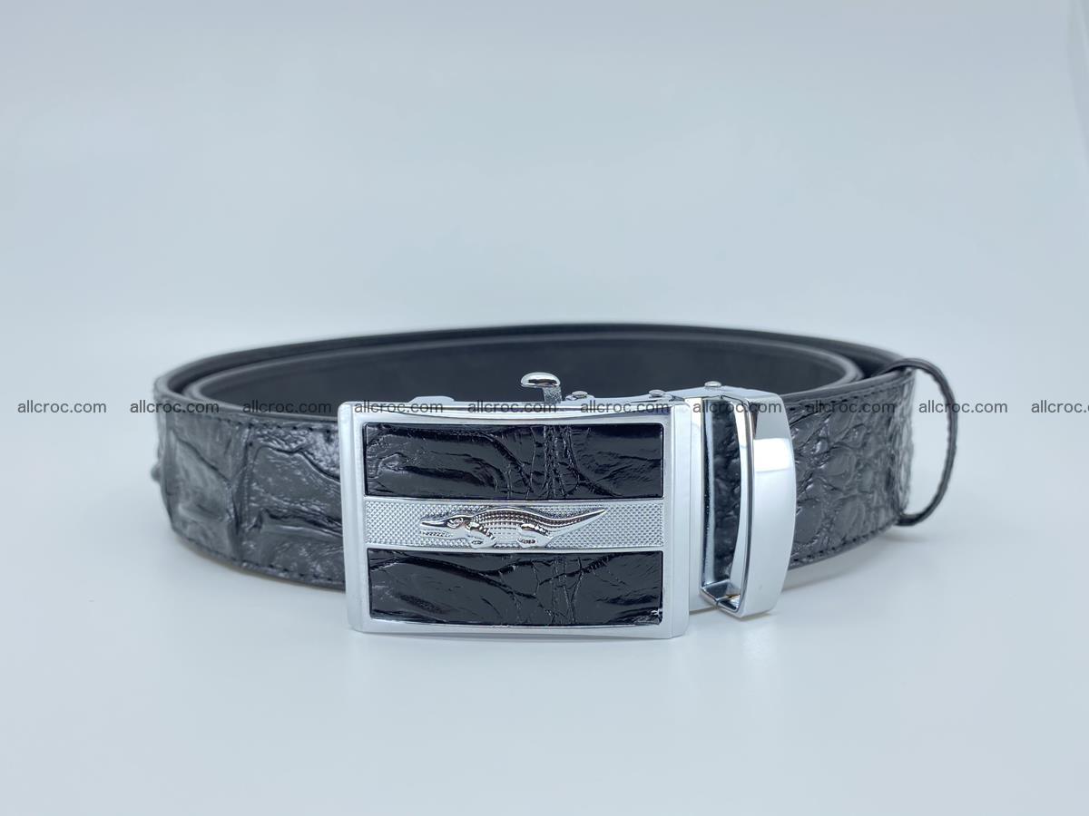 Crocodile leather hornback belt 715 Foto 2