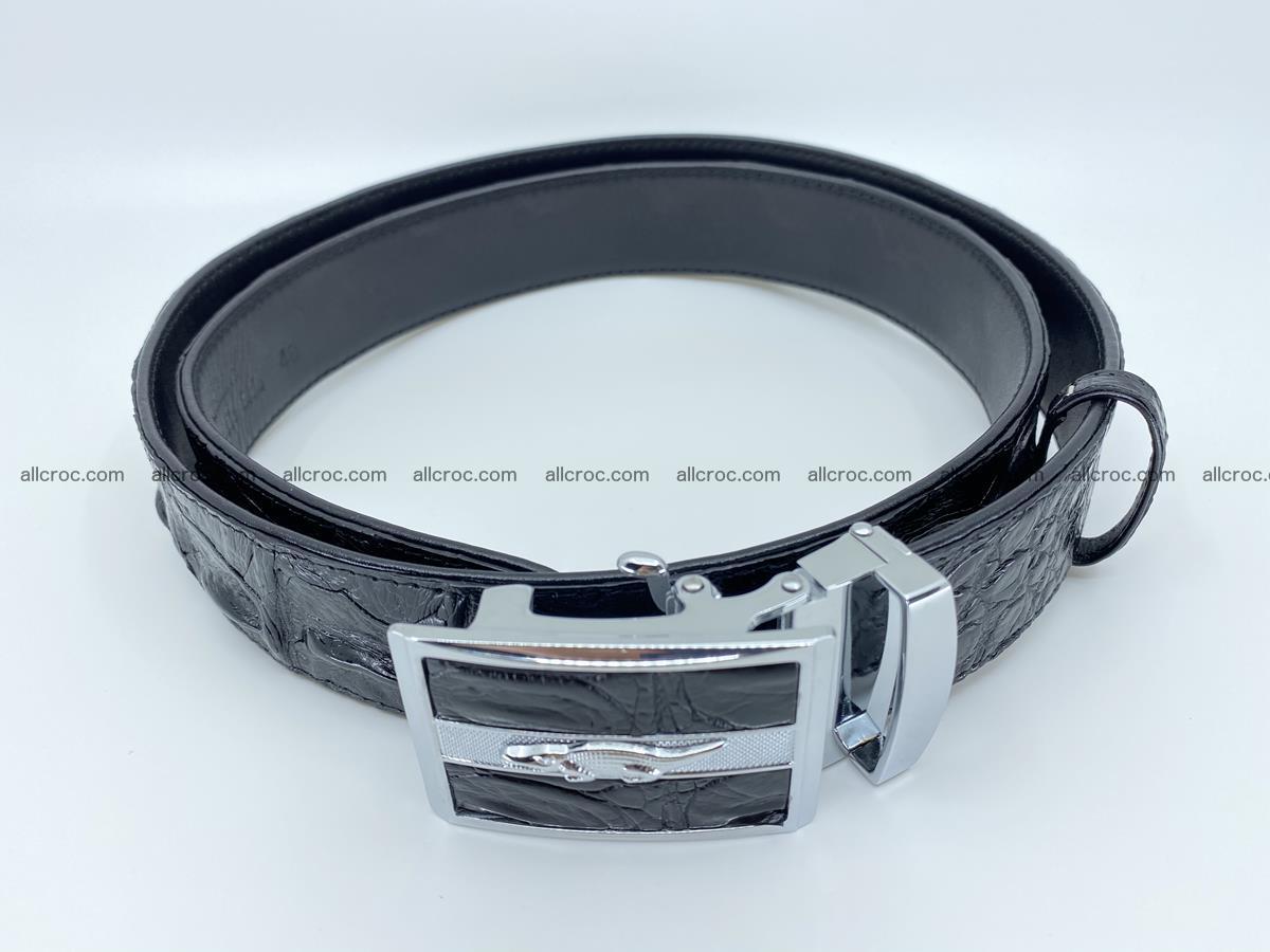 Crocodile leather hornback belt 715 Foto 6
