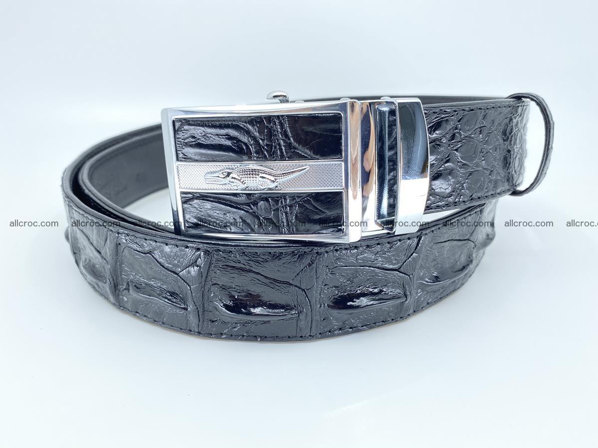 Crocodile leather hornback belt 715 Foto 1